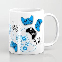 Video Game White and Blue Coffee Mug
