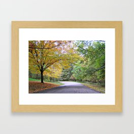 Autumn colors of West Virginia Framed Art Print