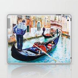 Gondolas on the Canals of Venice, Italy Laptop & iPad Skin