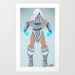 Eria the Frost Defender Art Print