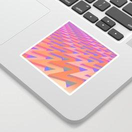 Pastel ZigZag Pattern Sticker