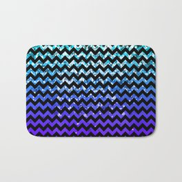 Glitter Chevron Variations IV Bath Mat