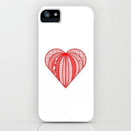 red heart . artlove iPhone Case