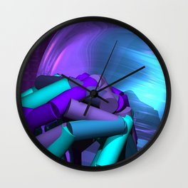 playing with colors and forms -04- Wall Clock
