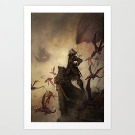 Fast Ships, Black Sails Art Print
