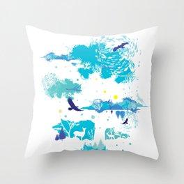 Refreshing Marine Wonderland Throw Pillow