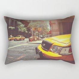 NYC Taxi Cab Rectangular Pillow