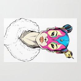 Asian Superheroine Rug