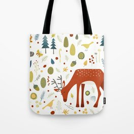 Deer and Forest Things Tote Bag
