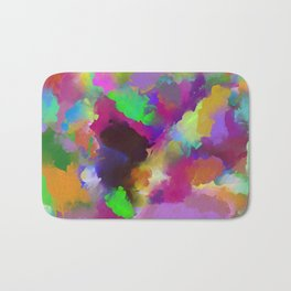 Expression Of Colour - Abstract, modern painting Bath Mat