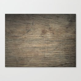 Raw wooden retro surface texture Canvas Print