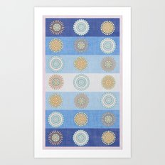 Swedish Flowers Art Print