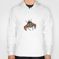 steam punk Hoodies featuring Steam punk beetle by Coffeeholic Art