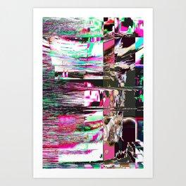 GLITCH 1 - TumblingStumblingPop Art Print