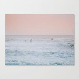 Pink Sky Ocean Canvas Print
