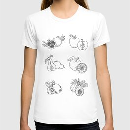 Fruit Cross Sections Diagram Illustration T-shirt