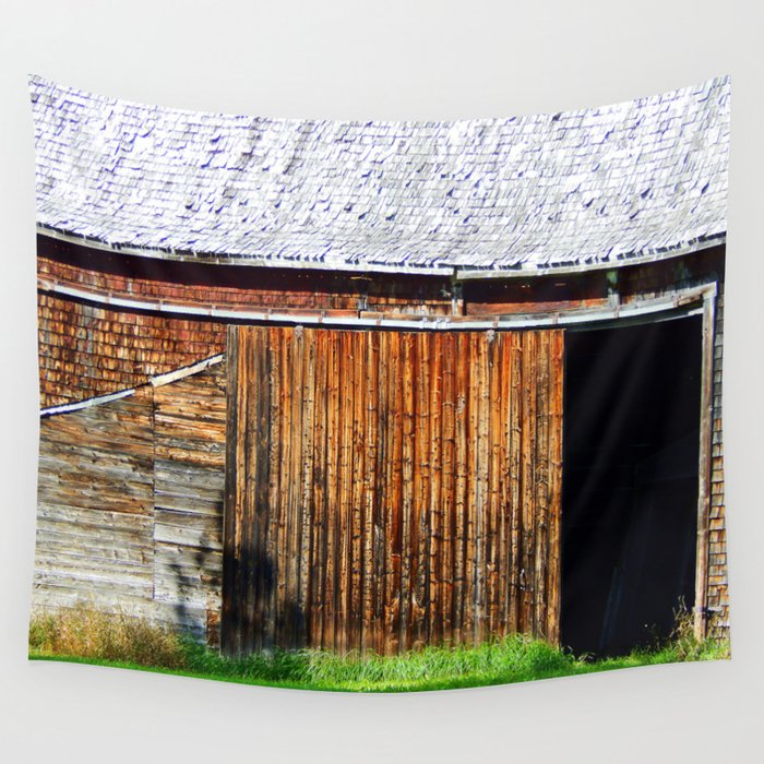 Open Barn Door Wall Tapestry By Danbythesea Society6