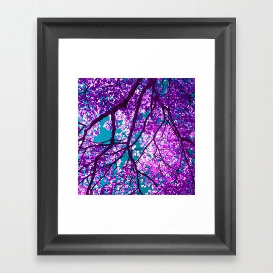 purple tree III Framed Art Print