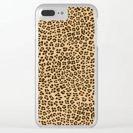 Leopard Spots Pattern Clear iPhone Case