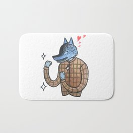 Lover & a Fighter Bath Mat