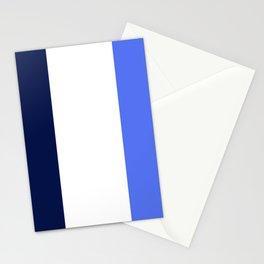 BEACH THEME TRIPLE THICK STRIPES -WHITE - NAVY BLUE - BRIGHT BLUE  Stationery Cards