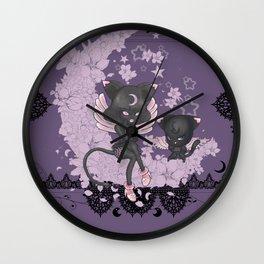 Black Cat Tsuki Wall Clock