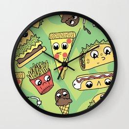 Snack Attack! Wall Clock