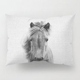Wild Horse - Black & White Pillow Sham