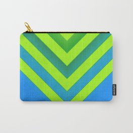 Sky & Lime Chevron Carry-All Pouch