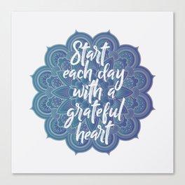 Gratitude Mandala Canvas Print