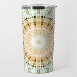 Mandala lightgreen 1 Travel Mug