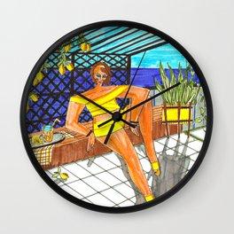 Fresh lemonade Wall Clock