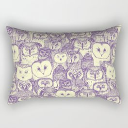 just owls purple cream Rectangular Pillow
