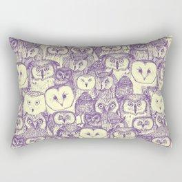 just owls purple cream Rectangular Pillow