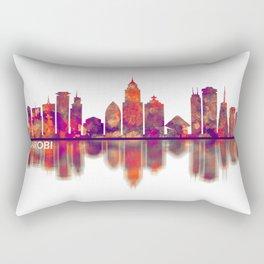 Nairobi Kenya Skyline Rectangular Pillow