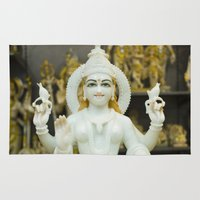 hindu Area & Throw Rugs featuring Lakshmi-Hindu Goddess in India by The Photo Buddha
