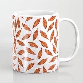 Orange autumn leaves pattern Coffee Mug