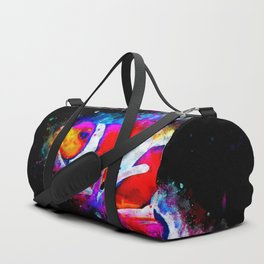 colorful anemonefish clownfish splatter watercolor Duffle Bag