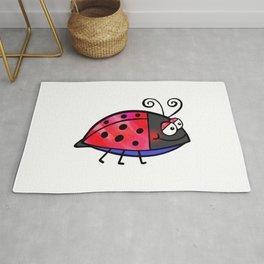 Ladybug Doodle Rug