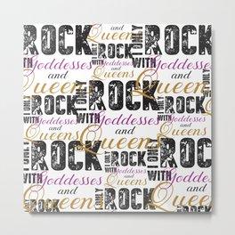 Rock Metal Print
