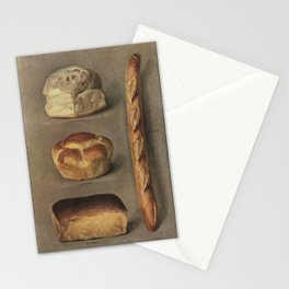 The Grocer's Encyclopedia (1911), a vintage collection of various types of baked bread loaves. Stationery Cards