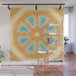 Sea Beach Summer Kaleidoscope Abstract Pattern Wall Mural