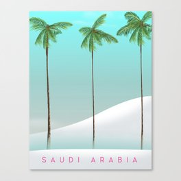 Saudi Arabia Travel poster Canvas Print