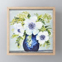 Anemones in vase Framed Mini Art Print