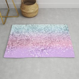 Unicorn Girls Glitter #4 #shiny #pastel #decor #art #society6 Rug