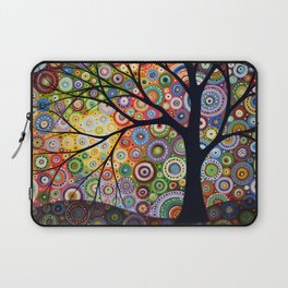 Abstract Landscape Original Painting...VISIONS OF NIGHT, by Amy Giacomelli Laptop Sleeve