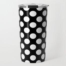 Black and white polka dots pattern Travel Mug