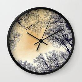Infrared Forest Wall Clock