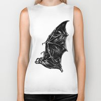 leather Biker Tanks featuring Leather Wings by Rad Recorder