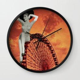 Amber Skies Wall Clock